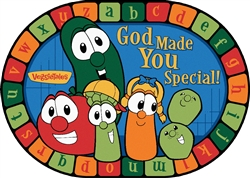 God Made You Special VeggieTales Rug - CFK881XX - Carpets for Kids