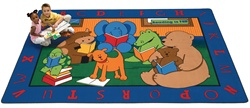 "Reading Buddies Rug - Rectangle - 8'4"" x 11'8"" - CFK8812 - Carpets for Kids"