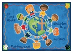 "Great Commission Children's Rug - Rectangle - 5'5"" x 7'8"" - CFK92015 - Carpets for Kids"