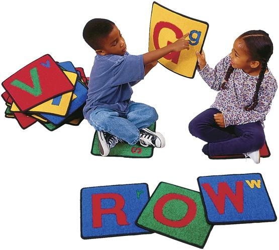 Alphabet Squares Square Set Of 26 Cfk926 Carpets For Kids