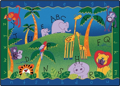 Alphabet Jungle Rug - CFK93XX - Carpets for Kids