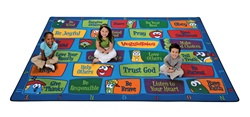 Veggie Values Seating Rug - CFK951XX - Carpets for Kids