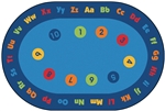 Circletime Early Learning Value Rug - Oval - 8' x 12' - CFK9698 - Carpets for Kids