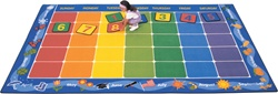 "Calendar Rug Factory Second - Rectangle - 7'6"" x 12' - CFKFS1112 - Carpets for Kids"