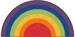 Rainbow Rows Rug Factory Second - Semi-Circle - 6' x 12' - CFKFS1262 - Carpets for Kids