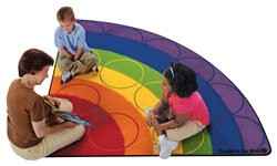 Rainbow Rows Rug Factory Second - Corner - 6' - CFKFS1266 - Carpets for Kids