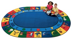 "Blocks of Fun Rug Factory Second - Oval - 6'9"" x 9'5"" - CFKFS1306 - Carpets for Kids"