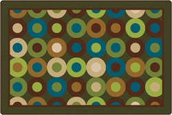 Calming Circles Rug Factory Second - Rectangle - 8' x 12' - CFK13728 - Carpets for Kids