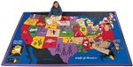 "Discover America Rug Factory Second - Rectangle - 8'4"" x 11'8"" - CFKFS1412 - Carpets for Kids"