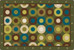 Alphabet Calming Circles Rug Factory Second - Rectangle - 4' x 6' - CFKFS17724 - Carpets for Kids