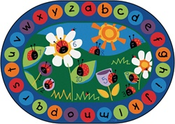 Ladybug Circletime Rug Factory Second - Oval - 6'9