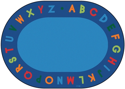 Alphabet Circletime Rug Factory Second - Oval - 6' x 9' - CFKFS2506 - Carpets for Kids