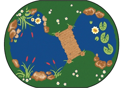 "The Pond Rug Factory Second - Oval - 4'5"" x 5'10"" - CFKFS3045 - Carpets for Kids"