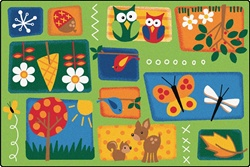 Nature's Toddler Rug Factory Second - Rectangle - 4' x 6' - CFKFS3401 - Carpets for Kids