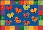 123 ABC Butterfly Fun Rug Factory Second - Rectangle - 7'8
