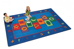 "Hopscotch Learning Rug Factory Second - Rectangle - 8'4"" x 11'8"" - CFKFS3612 - Carpets for Kids"