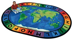 Circletime Around the World Rug  Factory Second- Oval - 6'9