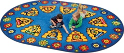 Busy Bee ABC Learning Rug Factory Second - Oval - 8'3