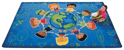 "Give the Planet a Hug Rug Factory Second - Rectangle - 5'5"" x 7'8"" - CFKFS4415 - Carpets for Kids"
