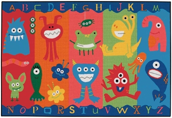 Alphabet Monsters Value Rug Factory Second - Rectangle - 4' x 6' - CFKFS4803 - Carpets for Kids