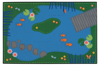 Tranquil Pond Value Rug Factory Second - Rectangle - 4' x 6' - CFKFS4806 - Carpets for Kids