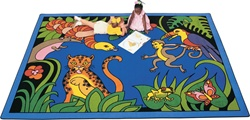 "Rain Forest Rug Factory Second - Rectangle - 8'4"" x 11'8"" - CFKFS4812 - Carpets for Kids"