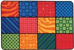 Patterns at Play Rug Factory Second - Rectangle - 4' x 6' - CFKFS4819 - Carpets for Kids