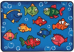 Something Fishy Rug Factory Second - Rectangle - 4' x 6' - CFKFS4827 - Carpets for Kids