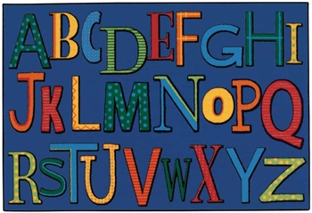 Playful Alphabet Value Rug Factory Second - Rectangle - 4' x 6' - CFKFS4847- Carpets for Kids