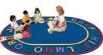 "Alpha Rug Factory Second - Oval - 6'9"" x 9'5"" - CFKFS4995 - Carpets for Kids"