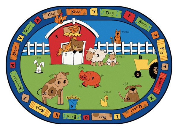 Alphabet Farm Rug Factory Second Oval 7 8 Quot X 10 10
