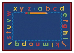 Lowercase Alpha Rug Factory Second - Rectangle - 5'5