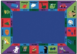 "Dewey Decimal Fun Rug Factory Second - Rectangle - 7'8"" x 10'10"" - CFKFS5717 - Carpets for Kids"