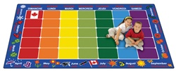 "French Calendar Rug Factory Second - Rectangle - 7'6"" x 12' - CFKFS6112 - Carpets for Kids"