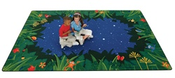 "Peaceful Tropical Night Rug Factory Second - Rectangle - 7'8"" x 10'10"" - CFKFS6517 - Carpets for Kids"