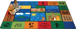 "The Creation Rug Factory Second - Rectangle - 7'8"" x 10'10"" - CFKFS70017 - Carpets for Kids"