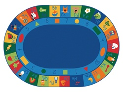 "Learning Blocks Rug Factory Second - Oval - 8'3"" x 11'8"" - CFKFS7008 - Carpets for Kids"