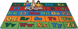 "Offset Seating Literacy Rug Factory Second - Rectangle - 7'6"" x 12' - CFKFS7912 - Carpets for Kids"