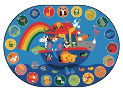 Noah's Voyage Circletime Rug Factory Second - Oval - 6'9