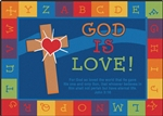 God is Love Learning Rug Factory Second - Rectangle - 6' x 9' - CFKFS83015 - Carpets for Kids