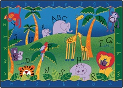 Alphabet Jungle Rug Factory Second - Rectangle - 4'5