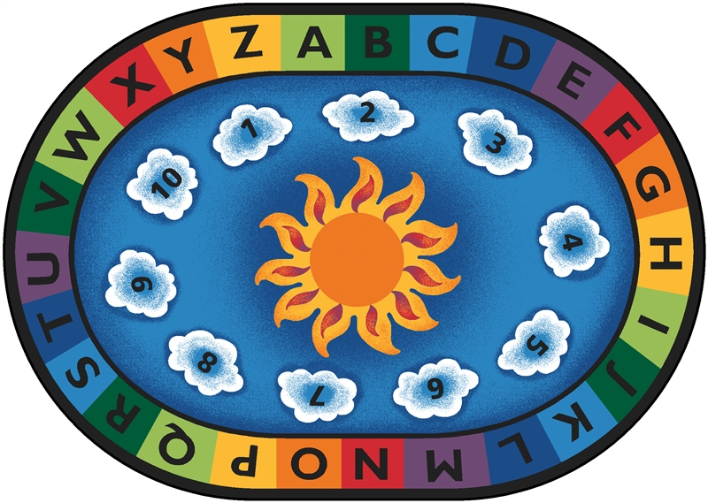 Sunny Day Learn Amp Play Rug Factory Second Oval 6 9 Quot X 9 5