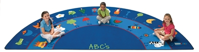 "Fun with Phonics Rug Factory Second - Semi-Circle - 5'10"" x 11'8"" - CFKFS9618 - Carpets for Kids"