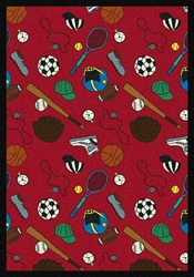 "Multi-Sport Wall-to-Wall Carpet - Red - 13'6"" - JC1417W01 - Joy Carpets"
