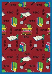 "Bookworm Wall-to-Wall Carpet - Red - 13'6"" - JC1419W03 - Joy Carpets"