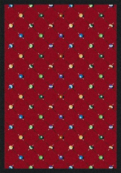 Billiards Rug Red Rectangle 5 4 Quot X 7 8 Quot Jc1421c02 Joy