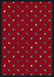 "Billiards Rug - Red - Rectangle - 7'8"" x 10'9"" - JC1421D02 - Joy Carpets"