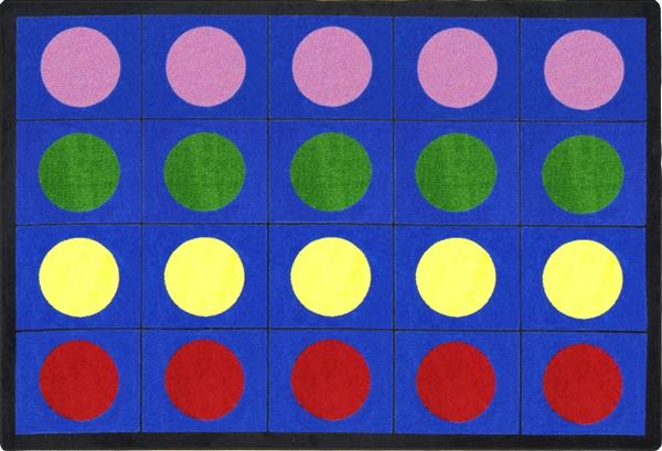 lots of dots classroom rug