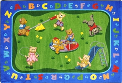 Teddy Bear Playground Rug - JC1437XX - Joy Carpets