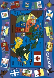 Flags of Canada Rug - JC1455XX - Joy Carpets